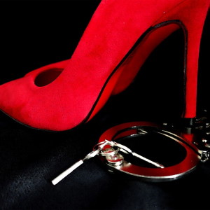 BDSM Vienna with red shoe