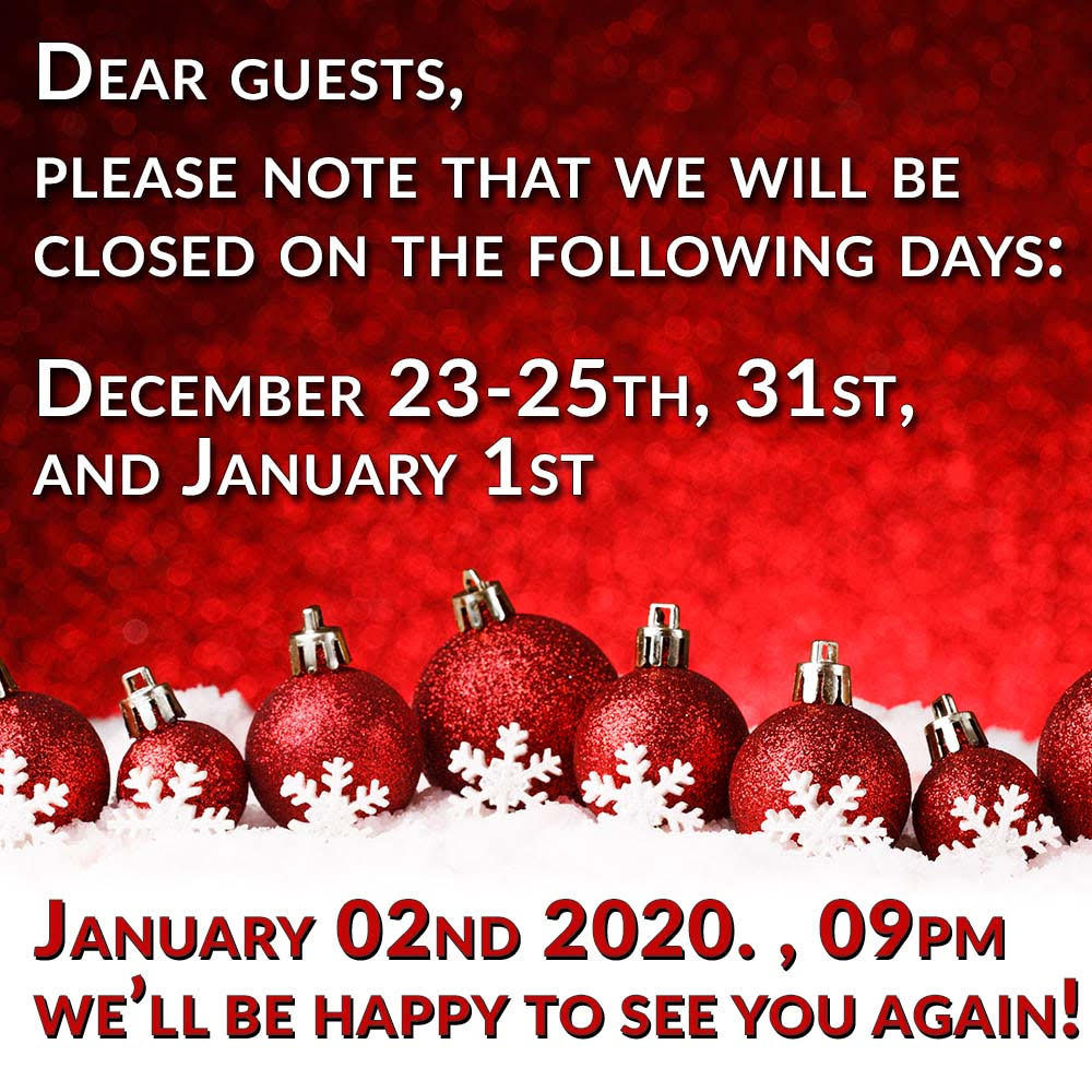 Vienna Sex club opening times 2019 Christmas