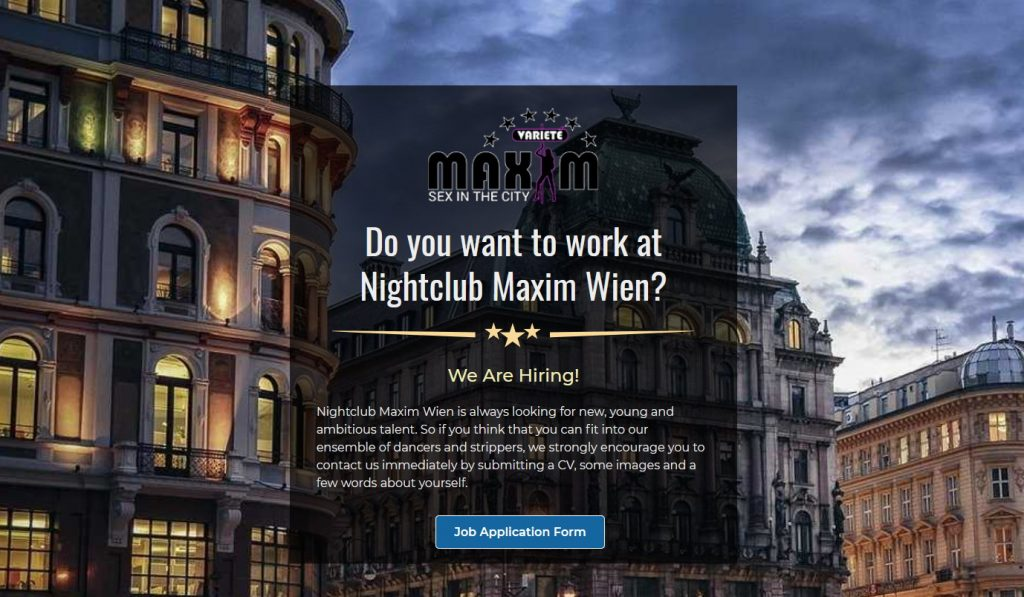 work in Sex Club Wien Maxim