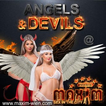 Angels & Devils banner of Bordell Maxim Wien