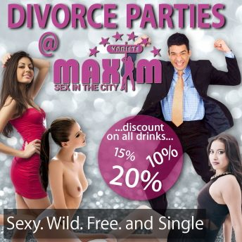 maxim divorce party vienna banner
